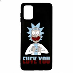 Чохол для Samsung M51 Rick and Morty fack and love you