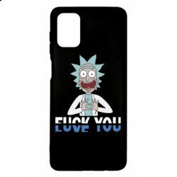 Чехол для Samsung M51 Rick fuck you