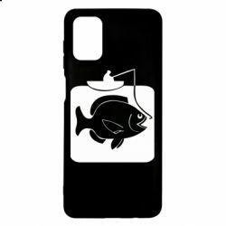 Чехол для Samsung M51 Рыба на крючке