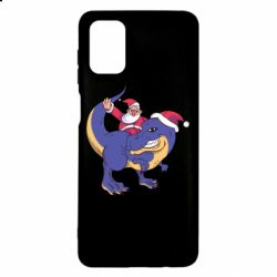 Чехол для Samsung M51 Santa and T-Rex