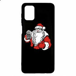 Чехол для Samsung M51 Santa Claus with beer