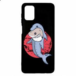 Чехол для Samsung M51 Shark or dolphin