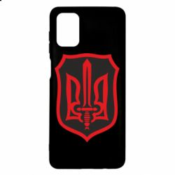 Чехол для Samsung M51 Shield with the emblem of Ukraine and the sword