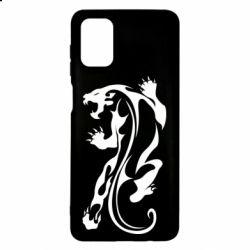 Чехол для Samsung M51 Silhouette of a tiger