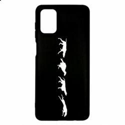 Чехол для Samsung M51 Silhouette of hunting dogs