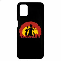 Чохол для Samsung M51 Silhouette of Rick and Morty at Sunset