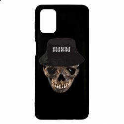 Чехол для Samsung M51 Skull in hat and text