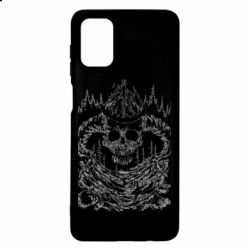 Чехол для Samsung M51 Skull with horns in the forest