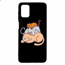 Чехол для Samsung M51 Sleeping cats