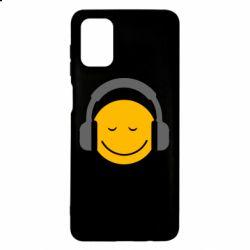 Чехол для Samsung M51 Smile in the headphones
