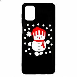Чехол для Samsung M51 Снеговик в шапке