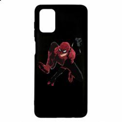 Чехол для Samsung M51 Spiderman flat vector