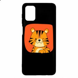 Чехол для Samsung M51 Striped tiger with smile