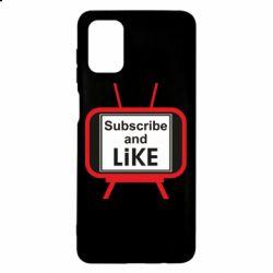 Чохол для Samsung M51 Subscribe and like youtube