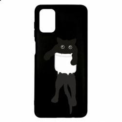Чехол для Samsung M51 The cat tore the pocket