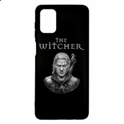 Чехол для Samsung M51 The witcher art black and gray