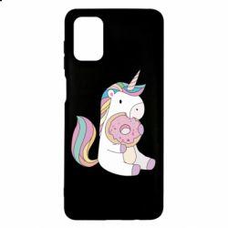 Чехол для Samsung M51 Unicorn and cake