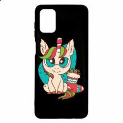 Чехол для Samsung M51 Unicorn Christmas