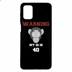 Чехол для Samsung M51 Warning my iq is 40