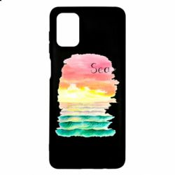 Чехол для Samsung M51 Watercolor pattern with sea