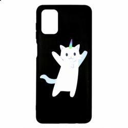 Чохол для Samsung M51 White cheerful cat