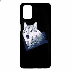 Чехол для Samsung M51 Wolf and forest