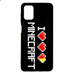 Чехол для Samsung M51 Я люблю Minecraft