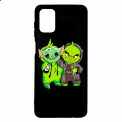 Чехол для Samsung M51 Yoda and Grinch