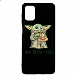 Чехол для Samsung M51 Yoda and pizza