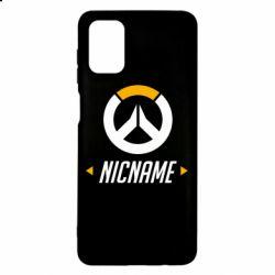 Чехол для Samsung M51 Your Nickname Overwatch