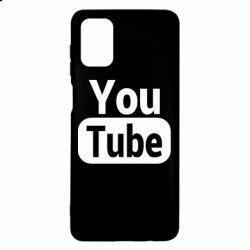 Чохол для Samsung M51 Youtube vertical logo