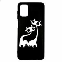 Чехол для Samsung M51 Жирафы