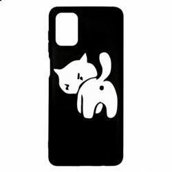 Чохол для Samsung M51 злий коте