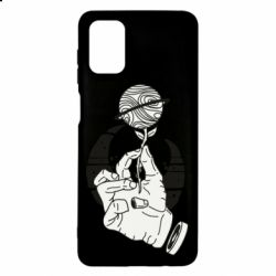 Чехол для Samsung M51 Zombie hand with flower planet on a crescent background