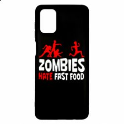 Чохол для Samsung M51 Zombies hate fast food