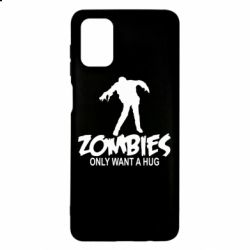 Чехол для Samsung M51 Zombies only want a hug
