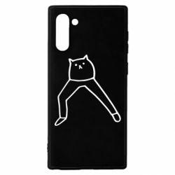 Чохол для Samsung Note 10 Cat in pants