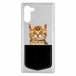 Чехол для Samsung Note 10 Cat in your pocket