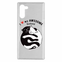Чехол для Samsung Note 10 Cats and love