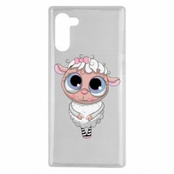 Чехол для Samsung Note 10 Cute lamb with big eyes