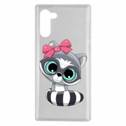 Чехол для Samsung Note 10 Cute raccoon