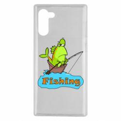 Чехол для Samsung Note 10 Fish Fishing