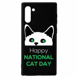 Чехол для Samsung Note 10 Happy National Cat Day