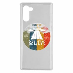 Чехол для Samsung Note 10 I want to believe text
