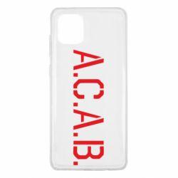 Чохол для Samsung Note 10 Lite A.C.A.B.