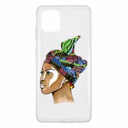 Чохол для Samsung Note 10 Lite African girl in a color scarf