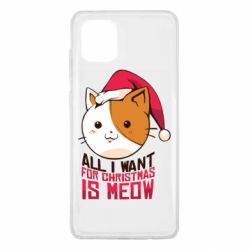 Чехол для Samsung Note 10 Lite All i want for christmas is meow