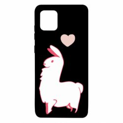 Чохол для Samsung Note 10 Lite Alpaca with a heart