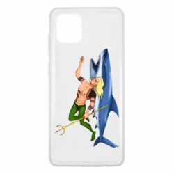 Чехол для Samsung Note 10 Lite Aquaman with a shark