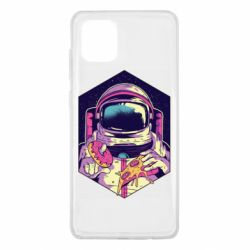 Чехол для Samsung Note 10 Lite Astronaut with donut and pizza